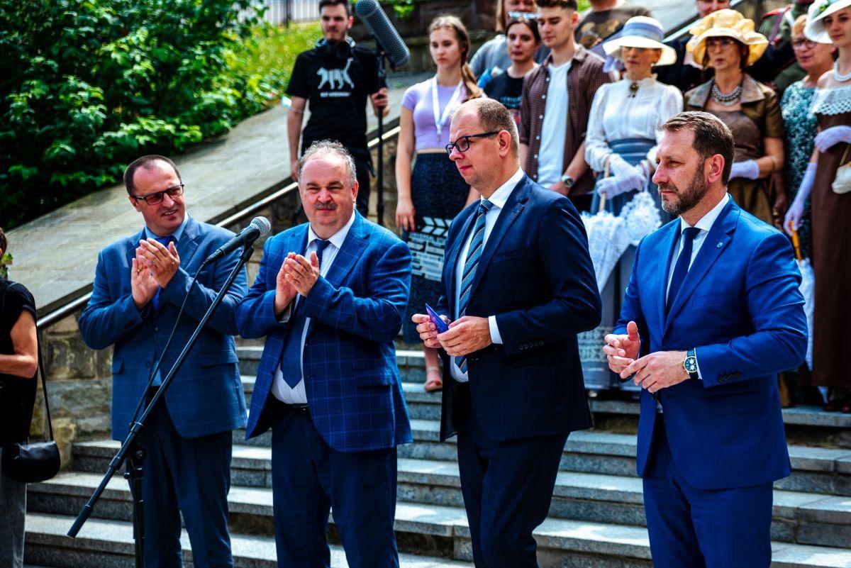Oficjalne otwarcie Podkarpackiego Szlaku Filmowego w Przemyślu. Fot. Michał Woźny.